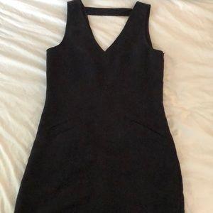 Saks brand black suede dress